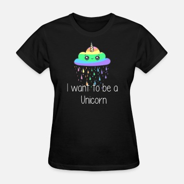 Unicorn On Clouds Unicorn Cloud - Women's T-Shirt