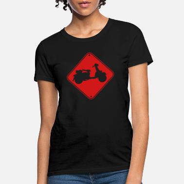 Roller Girl caution sign shield scooter zone danger clipart dr - Women's T-Shirt