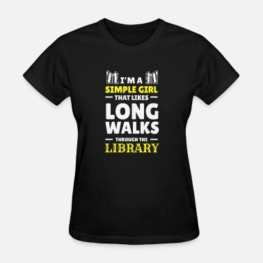 Book Reading Girl Read Books Literature Library Gift - Women's T-Shirt