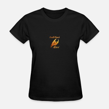 Gold Beach South Beach Miami Surfer Gold Souvenir Tshirt - Women's T-Shirt