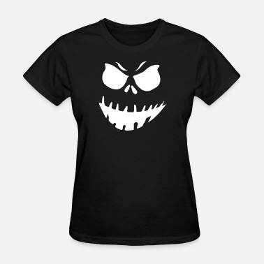 Evil Pumpkin Face Evil Pumpkin Face - Women's T-Shirt