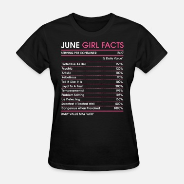 This Girl Is Protected By A Firefighter june girl facts serving per container 247 daily va - Women's T-Shirt