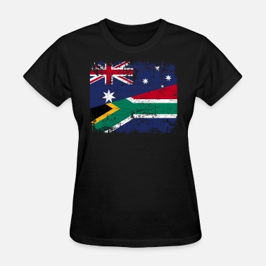 Half South African AUSTRALIA SOUTH AFRICA FLAG - Half South African - Women's T-Shirt