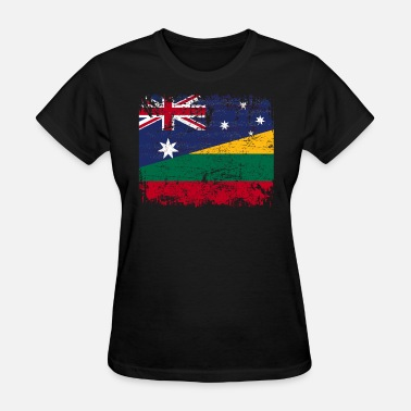 Lithuanian Flag AUSTRALIA LITHUANIA FLAG - Half Lithuanian - Women's T-Shirt