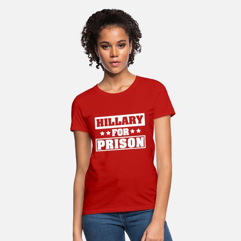 cdcf5982 Hillary Clinton For Prison Trump Funny Political t Women's T-Shirt |  Spreadshirt