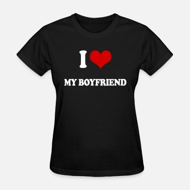 I Heart My Football Boyfriend I LOVE MY BOYFRIEND ROMANTIC LOVING heart VALENTIN - Women's T-Shirt