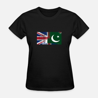 I Love Pakistan British Pakistani Half Pakistan Half UK Flag - Women's T-Shirt