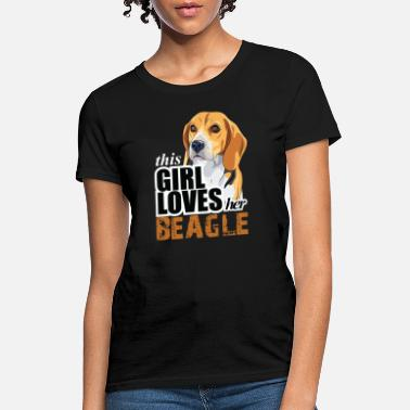 Beagle thIs gIrl loves her beagle - Women's T-Shirt