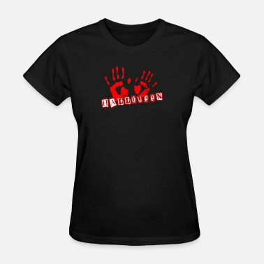 Sparkle Halloween Halloween blood hands creep sparkle gift - Women's T-Shirt
