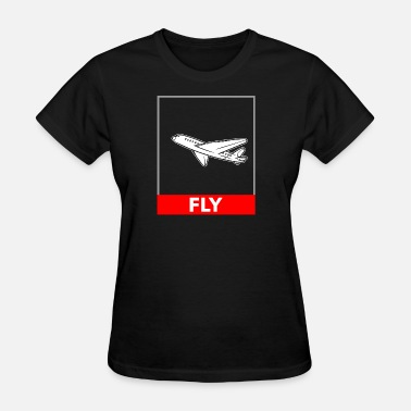 Airplane Flying Airplane Fly - Women's T-Shirt