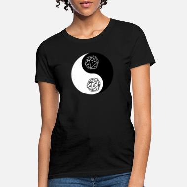 Jin Jang Funny DND Gift for Role Playing Games (RPG) Dungeon Masters (DM) Yin and Yang D&D - Women's T-Shirt