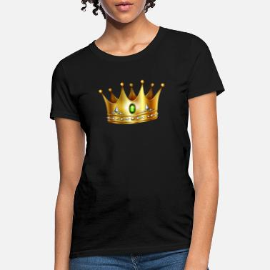 Golden Crown Golden Royal crown with precious stones cool art - Women's T-Shirt