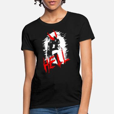 Devil Horns 2reborn beauty devil girl hell hoelle teufel sexy - Women's T-Shirt