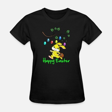 Happy Easter Easter, easter bunny, easter egg, easter, happy - Women's T-Shirt
