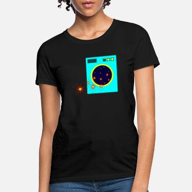 Washing Machine Outer Space Wash Machine - Women's T-Shirt