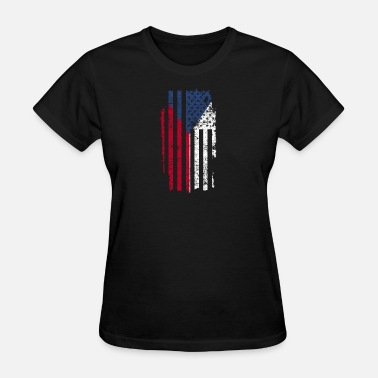Central America Czech Gift America Flag Prague Central Europe - Women's T-Shirt
