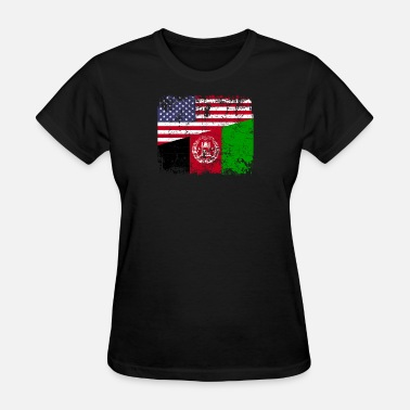 Afghan Flag AFGHAN ROOTS | American Flag | AFGHANISTAN Gift - Women's T-Shirt