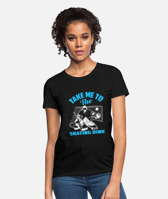 Contact Sport T-Shirts - Ice Hockey Rink Gift Idea Gift - Women's T-Shirt black
