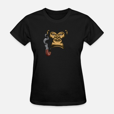 The Smoking Ape Smoking Gorilla | Pipe | Tobacco | Ape | Gift Idea - Women's T-Shirt