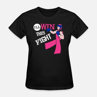 Breast Boxing Gloves Funny Fight Cancer Shirt - Healed Shirt - Women's T-Shirt