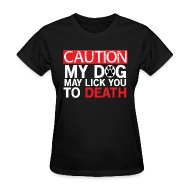 Caution i lick at anytime tshirt