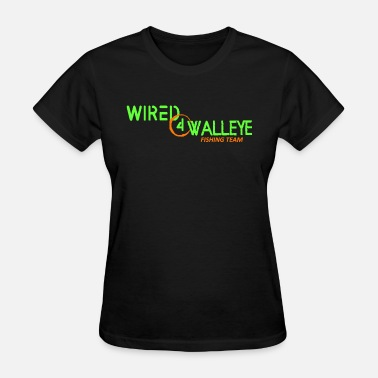 Wired4walleye Green on Orange Logo - Women's T-Shirt
