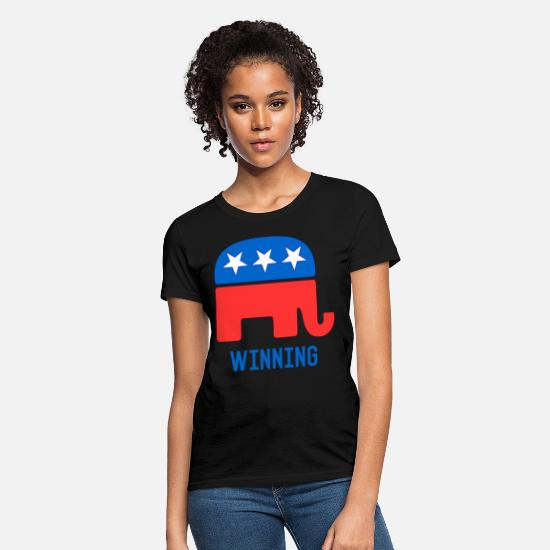 Party T-Shirts - Republican GOP Elephant Winning - Women's T-Shirt black