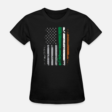 Usa Police Police officer irish usa flag - Women's T-Shirt