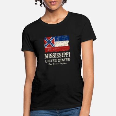 Faded Flag of Mississippi T-Shirt Mississippi State Flag