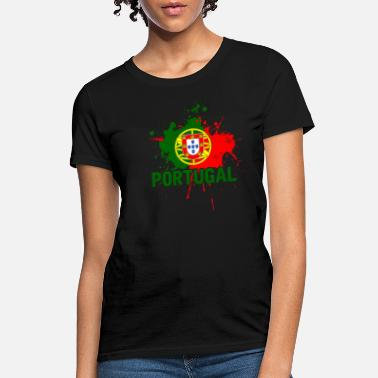 Portugal Portuguese Flag Soccer Gift Nationality - Women's T-Shirt