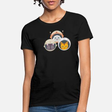 Space Pussy Cat Catstronauts T-Shirt Funny Cat Lover Tee - Women's T-Shirt