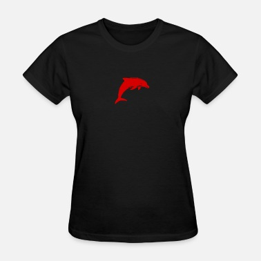Red Dolphin Red Dolphin | sea ocean illustration | gift idea - Women's T-Shirt