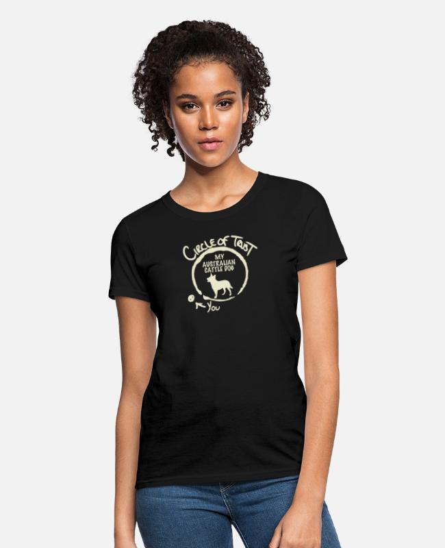 Circle T-Shirts - Circle Of Trust My Australian Cattle Dog - Women's T-Shirt black