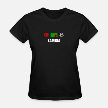 Zambia Designs Zambia Football Shirt - Zambia Soccer Jersey - Women's T-Shirt