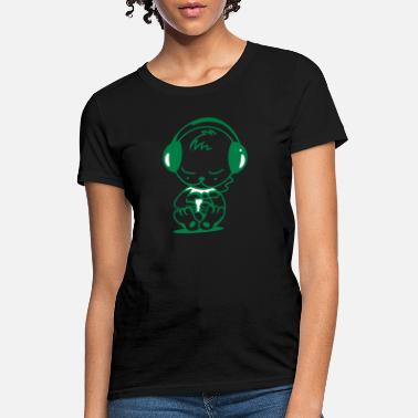 Mp3 Player Little bear with an MP3 Player - Women's T-Shirt