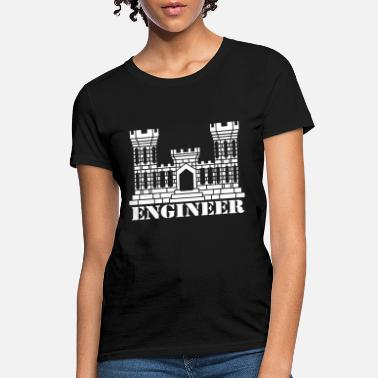 Insignia US Army Engineer Branch Insignia Castle Veteran Gr - Women's T-Shirt