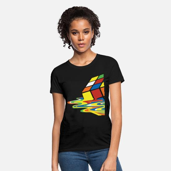 Cube T-Shirts - meltingcube - Women's T-Shirt black