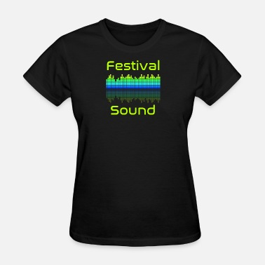 Audio System festival sound audio spectrum - Women's T-Shirt