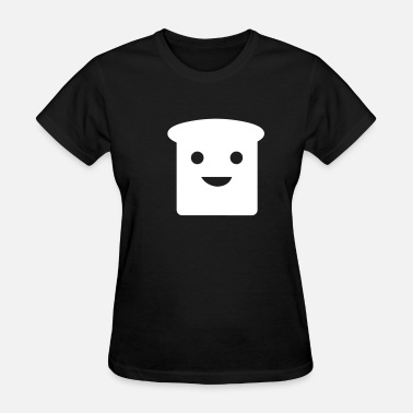 Cartoon Toast Happy Toast - Women's T-Shirt