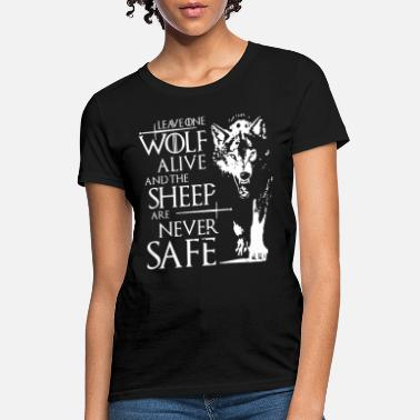 White Wolf Leave One Wolf T Shirts - Women's T-Shirt