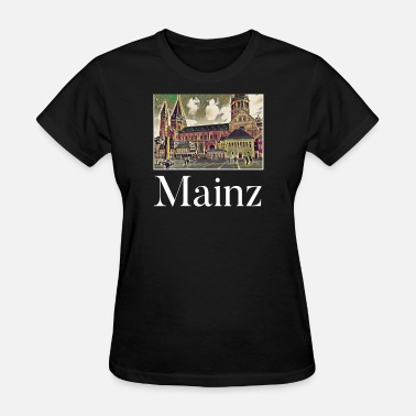 Mainz Mainz City Skyline Sights Silhouette Landmark - Women's T-Shirt