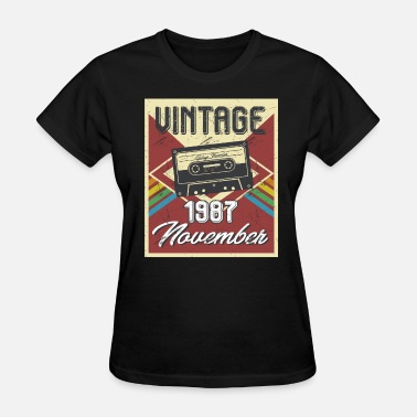31th Birthday 31th Birthday Gifts Retro Vintage November 1987 - Women's T-Shirt