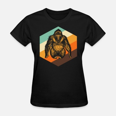Orange Monkey Orang Utan Retro Monkey - Women's T-Shirt
