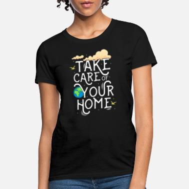 Clean Earth Save earth -global warming - climate change- earth - Women's T-Shirt
