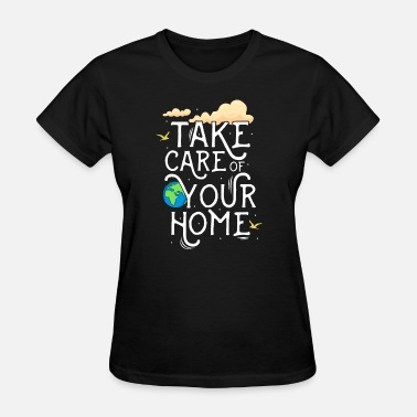 Change Save earth -global warming - climate change- earth - Women's T-Shirt