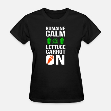 Satanic Bodybuilder Vegan - Funny Vegan Shirt Romaine Calm Lettuce C - Women's T-Shirt