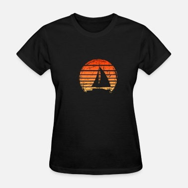 Fish Therapy sunset sailing sailor gift present boat men - Women's T-Shirt