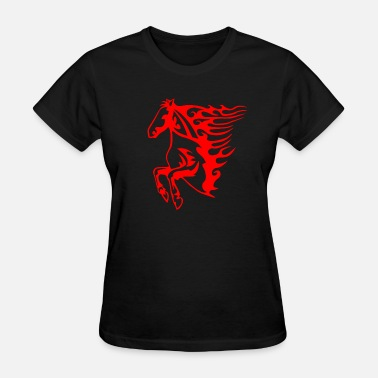 Horse And Flames Flaming Horse - Women's T-Shirt
