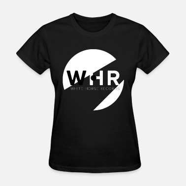 White Label Designer White Horse Records Logo - Black - Women's T-Shirt