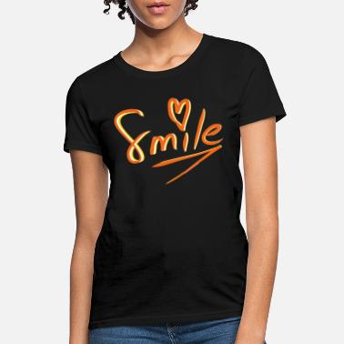 Smile Heart Hand Drawing - Women's T-Shirt